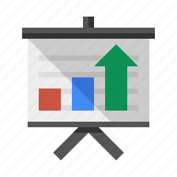 analytics, business, easel, presentation, report, sales, trends icon
