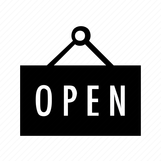 ecommerce, enter, open, shopping, sign, store icon