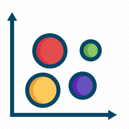 analysis, bubble, business, chart, graphs, grid, report icon