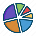 analysis, business, chart, finance, graphs, pie, report icon