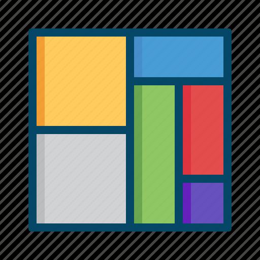 block, business, chart, graphs, mekko, report, treemap icon