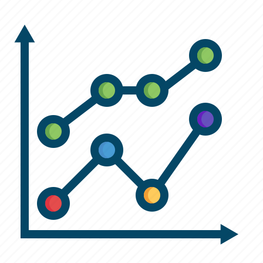 analysis, analytics, business, graphs, line, lines, report icon