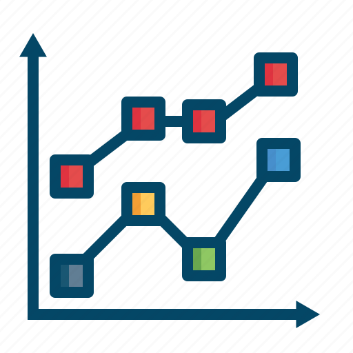 analysis, business, graphs, line, lines, report, statistics icon