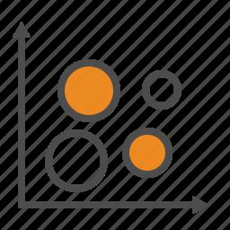 bubble, business, chart, graphs icon