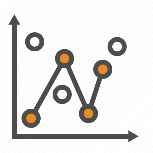 business, graphs, line, statistics icon