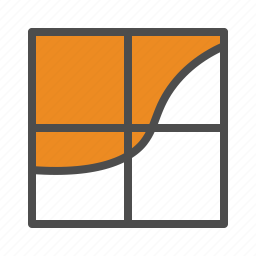 business, chart, graph, surface icon