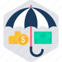 insurance, plan, premium, retirement, safety, umbrella icon