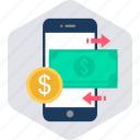 alert, app, currency, mobile, money, notification icon