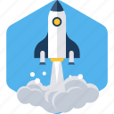 launch, misille, rocket, space, start, startup icon