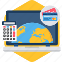 calculator, currency, exchange, foreign, payment, world icon