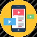app, media, mobile, player, social, video icon