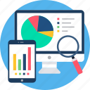 app, chart, details, diagram, pie, responsive icon