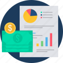business, currency, growth, revenue, sheet, workflow icon