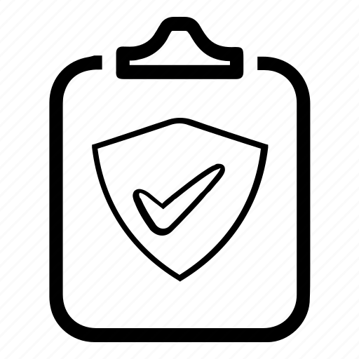 clipboard, document, protect, protection, report, secure, security icon