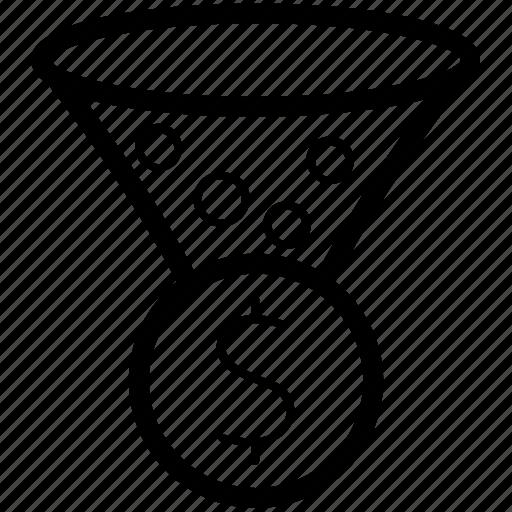 conversion, filter, optimization icon, seo, significon icon