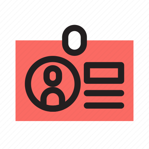 business, company, employee, finance, id card, identity, profile icon