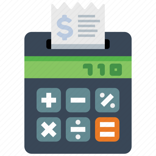 calculator, payment, price, receipt icon