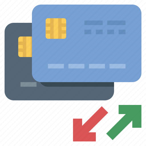 balance, credit card, transfer icon