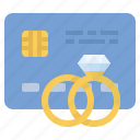 credit card, diamond, engagement, rings icon