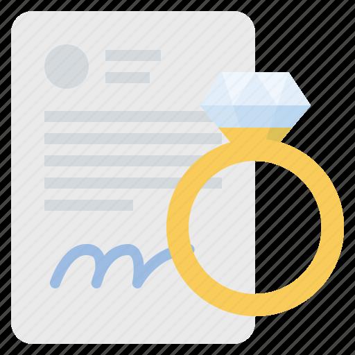Certificate, diamond, luxury, wedding icon - Download on Iconfinder