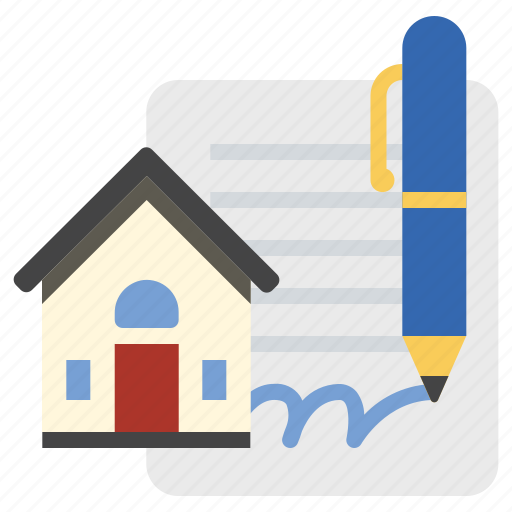 House, mortgage, signature icon - Download on Iconfinder