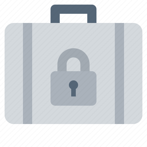briefcase, luggage, secure icon