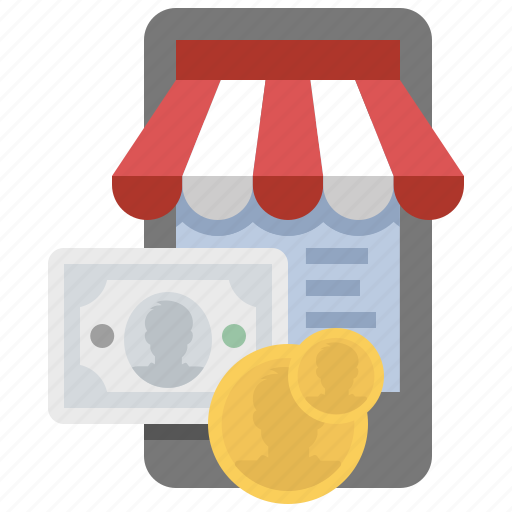 buy, cash, mobile, payment, store icon