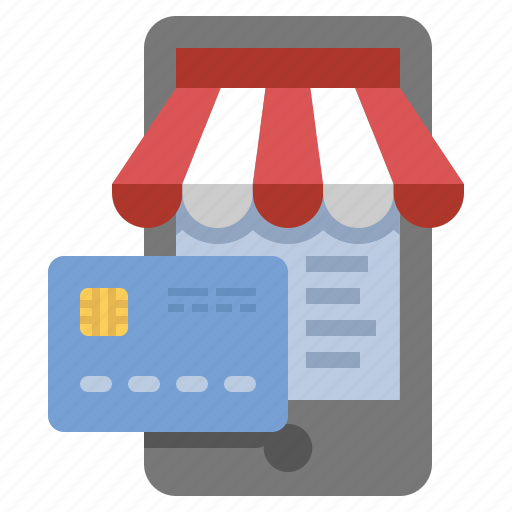 credit card, mobile, paymet, store icon
