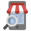 buy, mobile, search, shop, store icon