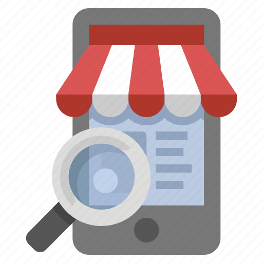 buy, mobile, search, store icon