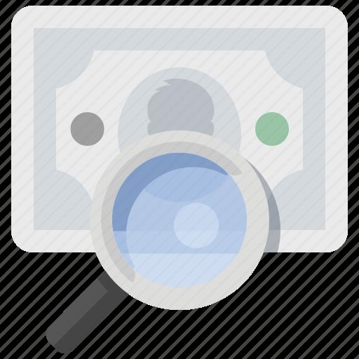 cash, find, money, search icon