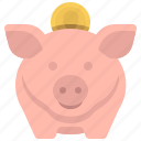 bank, coin, money, piggy, save, savings icon