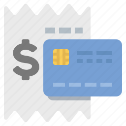 buy, credit card, payment, purchase, receipt icon