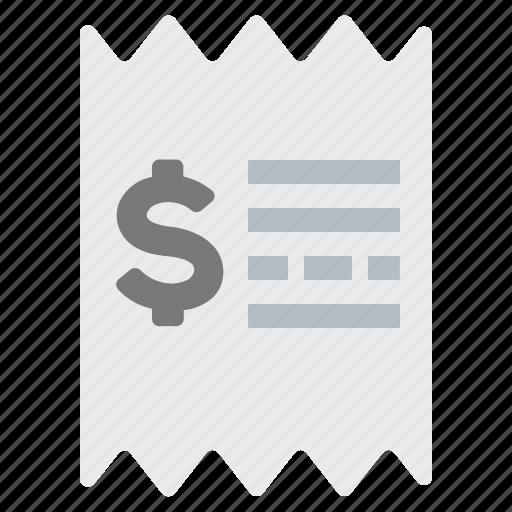 invoice, price, receipt icon