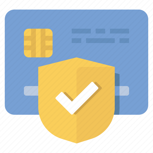 credit card, money, protected, secure icon