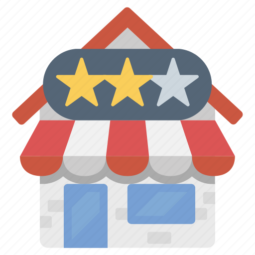 rating, reviews, shop, store icon