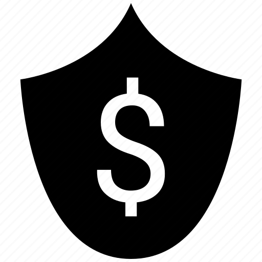 dollar, ecommerce, protect, shield icon