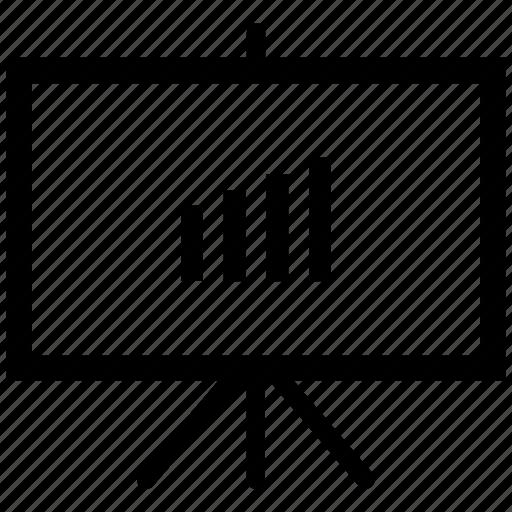 black board, board, growth bar, plank, school board icon