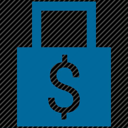 dollar, lock, minimal, password icon