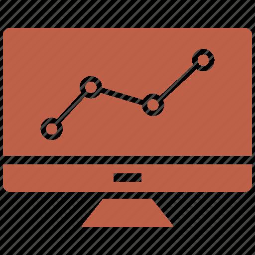 computer, growth bar, monitor, pc, web icon