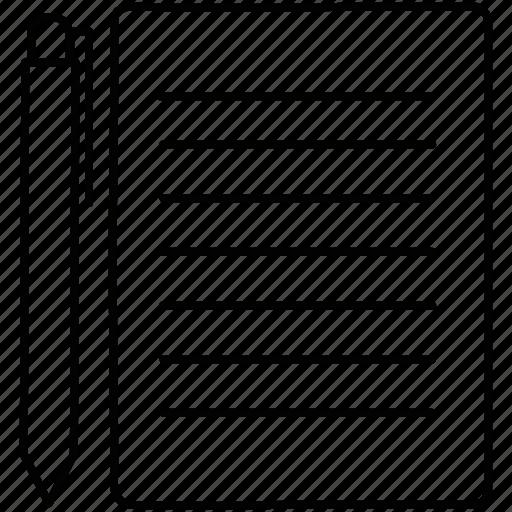 List, paper, pen icon - Download on Iconfinder on Iconfinder