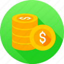 banking, coin, coin dollar, currency, dollar icon icon