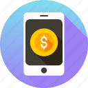 mobile, mobile money, pay, payment, phone, smartphone icon icon