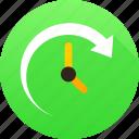 arrow, clock, history, watch icon icon