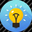 bulb, creative, creativity, idea, light, light bulb, lightbulb icon icon