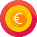 coin, currency, euro, euro sign icon icon