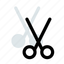 blade, cut, office, paste, scissors, sharp, supply icon icon