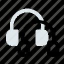 audio, ear phone, earphone, headfone, headphone, music icon icon