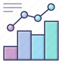 analytics, graph, growth, trend icon
