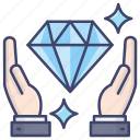 asset, care, diamond, protection icon